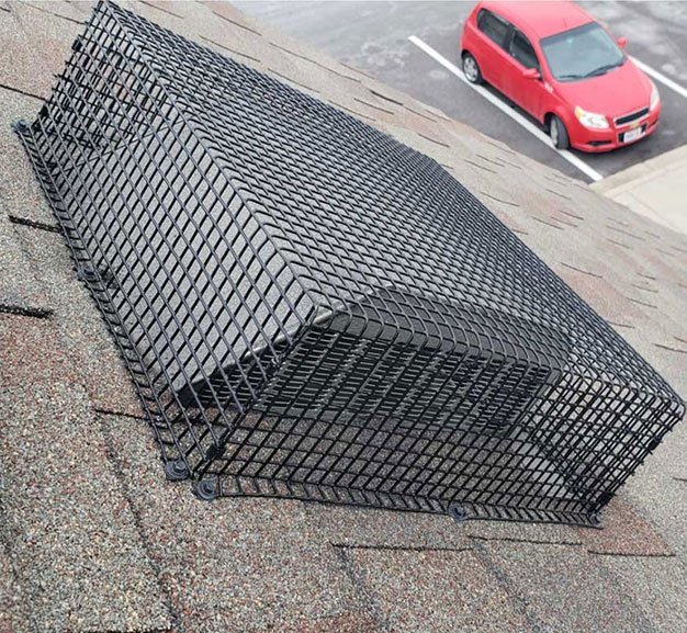 Photo: The Vent Shield high grade vent guard animal protection